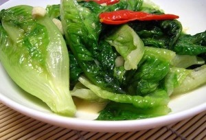 stir fried lettuce